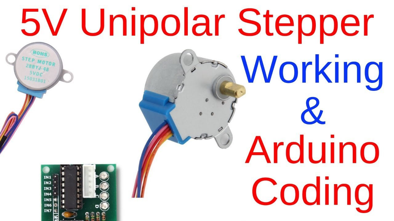 Unipolar stepper motor working principle and practical with Arduino UNO and  ULN2003 (part 1)