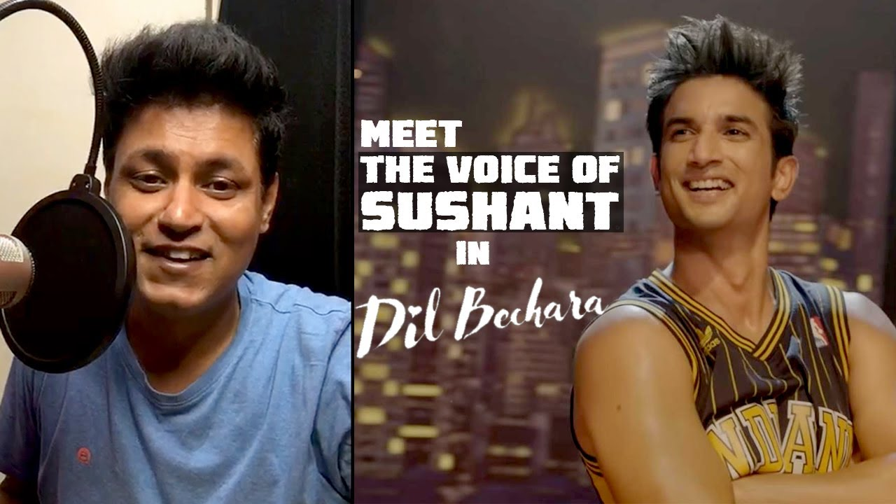 REAL VOICE OF SUSHANT SINGH in Dil Bechara | LIVE DUBBING
