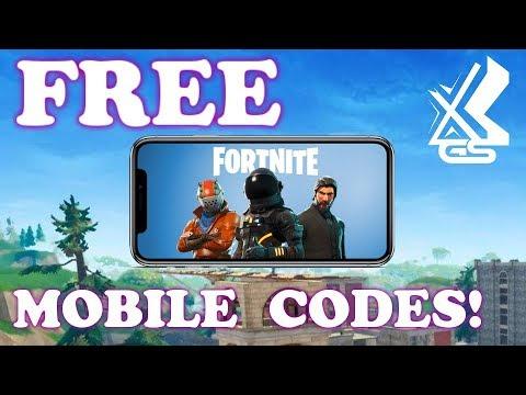 Fortnite FREE Mobile Codes //  xGs Discord!