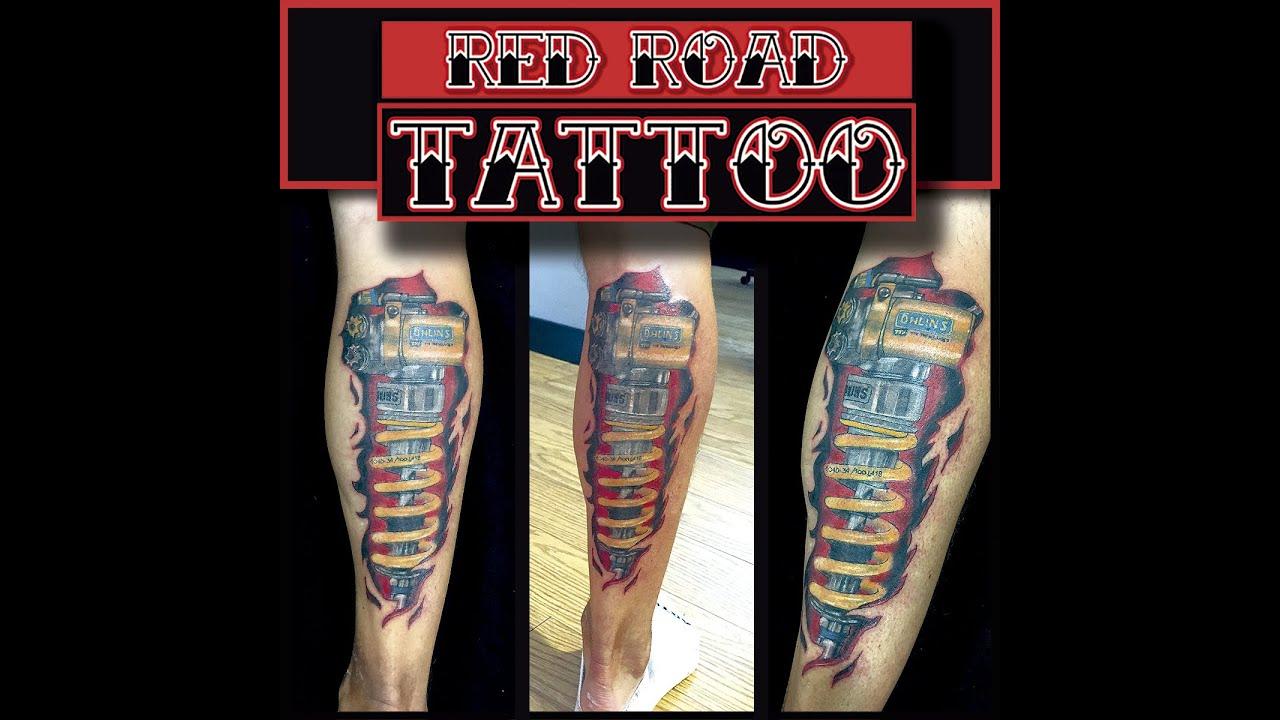 Tatuaje De Amortiguador En El Gemelo Youtube