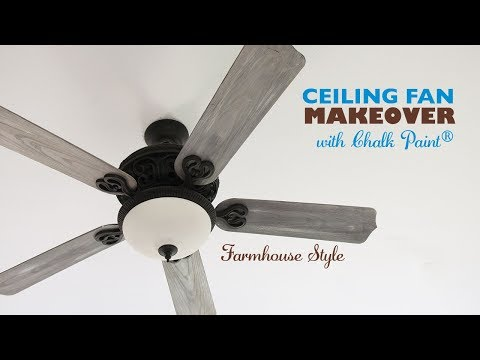Ceiling Fan Makeover With Chalk Paint