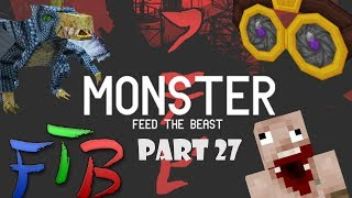 Minecraft: Feed The Beast Monster: Bedrock Tools & Tinkers Hammer!  (Part 27) (Dutch Commentary)