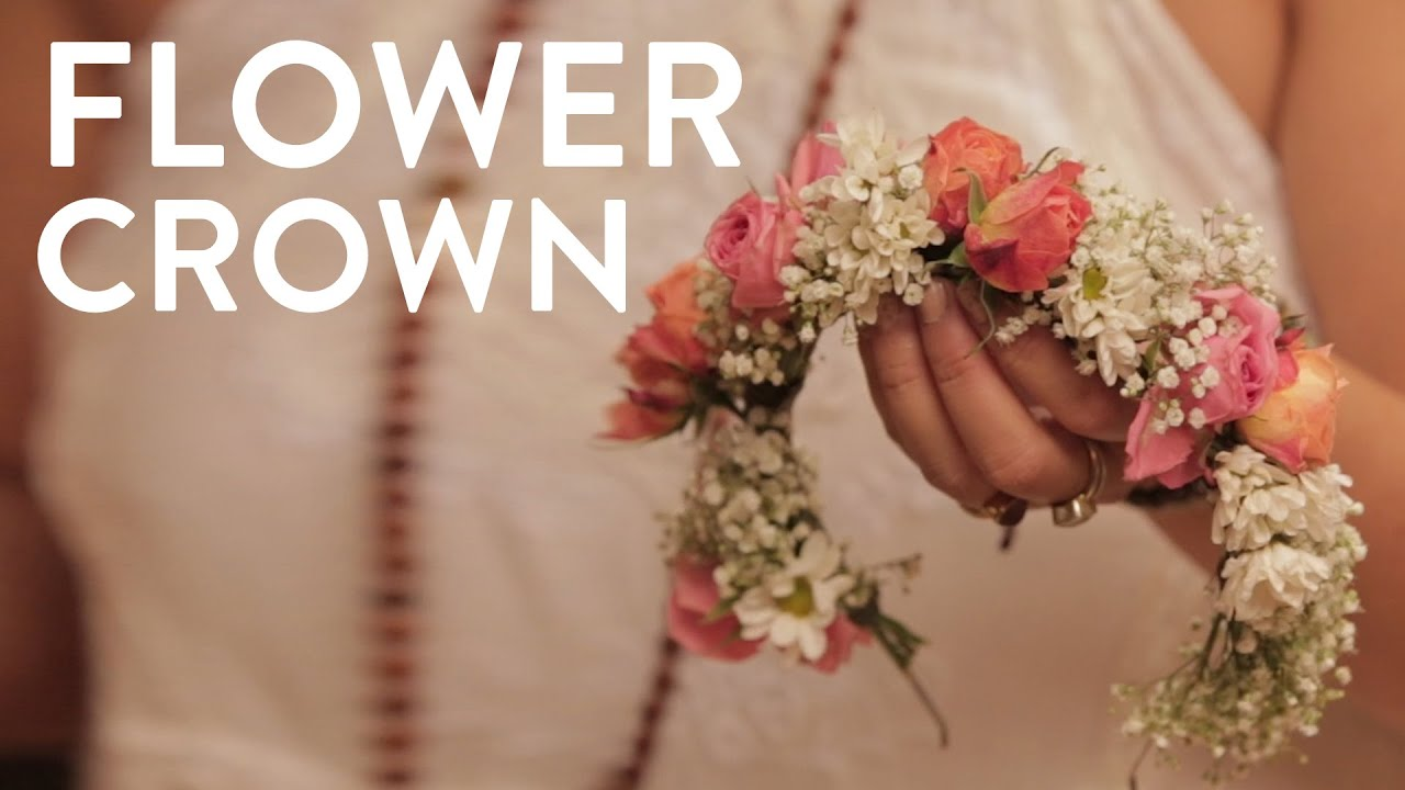 How to make a flower crown youtube izmirmasajfo