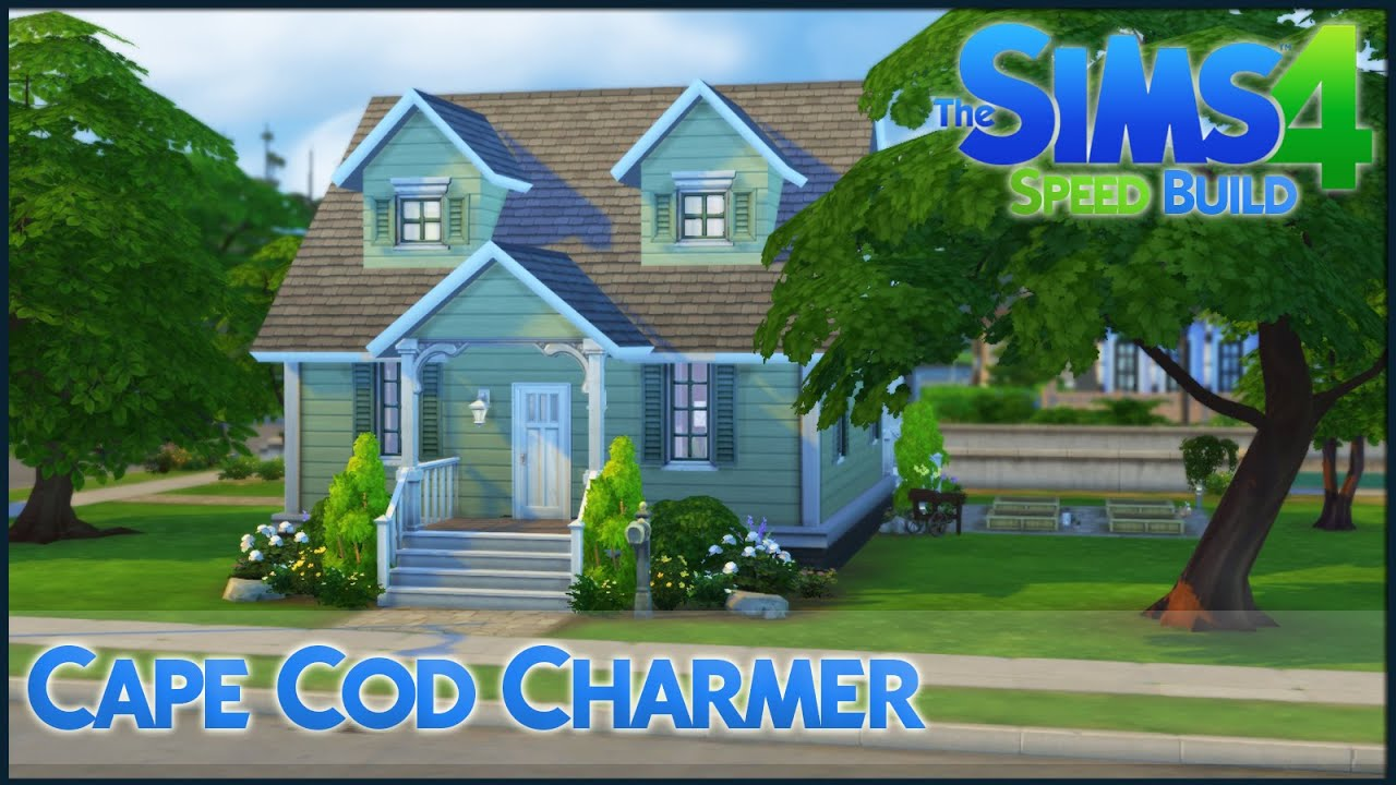 The sims 4 speed build cape cod charmer youtube for Cape cod builder