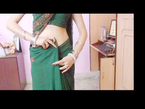 How To Drape Indian Saree And Look Lean/Mumtaj Style Sari Wearing Tutorial To Look Slim/Wrap/Hold