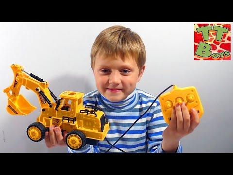 ✔ Машинки - Экскаватор. Игрушки для детей. Игры для мальчиков. Сюрприз от Игорька. Excavator Toys ✔