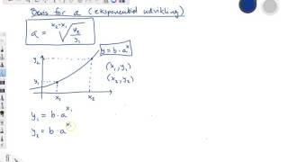 Bevis for formlen for a ved eksponentiel udvikling