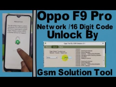 Oppo F9 Pro Network/16 Digit Code Unlock By Gsm Solution Tool