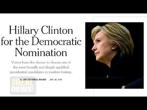 NYT Endorsement of Hillary Not Surprising Since It Buried Bernie's Presidential Bid