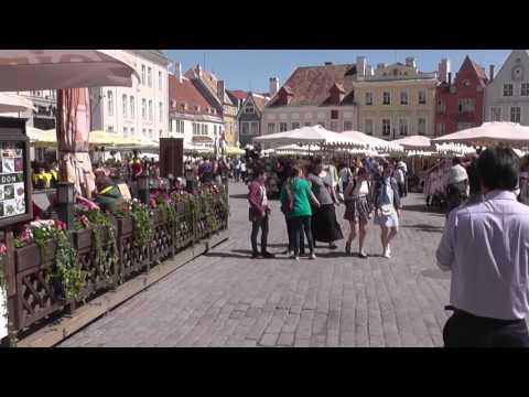 Walking the streets of Tallinn. Summer 2017