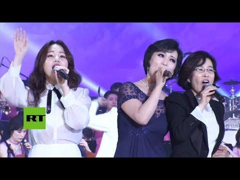 Músicos de las dos Coreas unen sus voces para entonar la canción favorita de Kim Jong-il