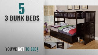 Top 10 3 Bunk Beds [2018]: Discovery World Furniture Twin over Full Staircase Bunk Bed with 3 Drawer https://clipadvise.com/deal/