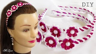 ПРАЗДНИЧНЫЙ ОБОДОК ИЗ ГЛИТТЕРНОГО ФОАМИРАНА, МК / DIY Christmas Glitter Headband