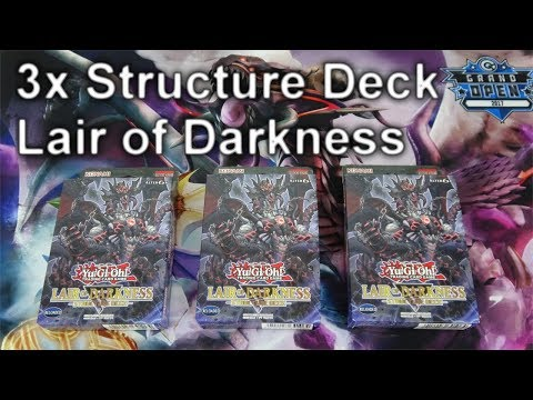 3x YuGiOh Structure Deck LAIR OF DARKNESS Opening (4K)