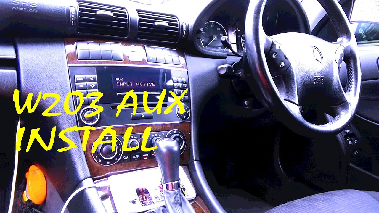 Mercedes C Class W203 Aux Install Easy Youtube Phone Wiring