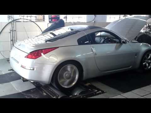 Nissan 350Z On The Dyno (New Spec HR Motor)