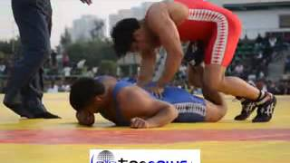 SUSHIL KUMAR WRESTLER IN GR NOIDA WRESTLING COMPETITION