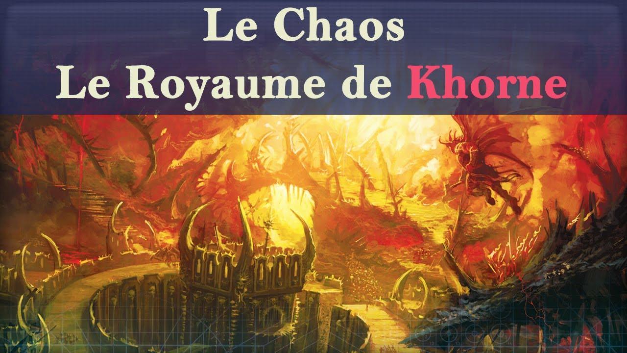 Lore Warhammer 40K - Le Chaos : Le Royaume de Khorne