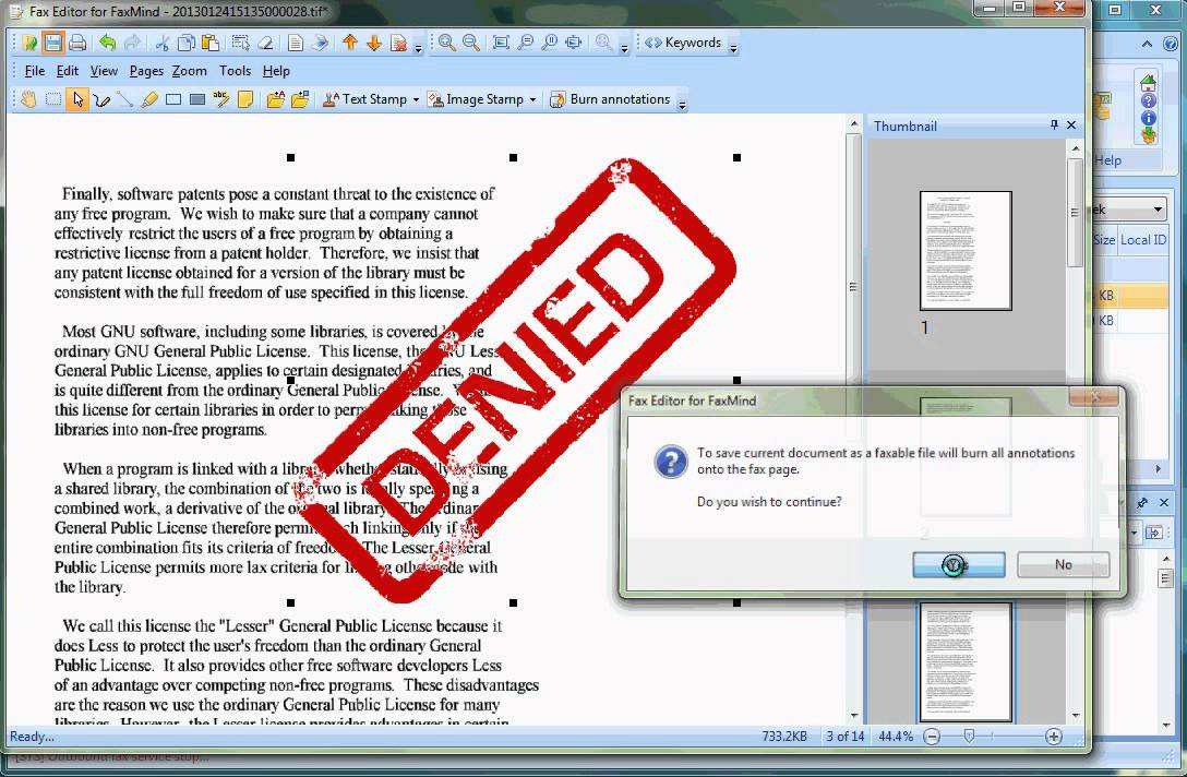 Fax Editor (FaxMind Free Email to Fax server)