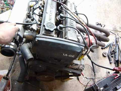 Toyota 4A-GE 16v Reworked Engine Running