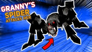 Granny's Pet Spider JOINS OUR SIDE!!! (Rex Helps)   Granny The Mobile Horror Game (Story)
