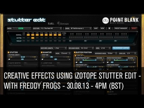 iZotope Stutter Edit: Creative Effects with Freddy Frogs