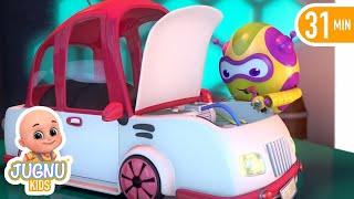 car wash song police car | Rain Rain Go Away + More Nursery Rhymes and Kids Songs - jugnu kids