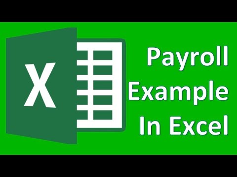 Microsoft Excel 01 Payroll Part 1 - How to enter data and create formulas