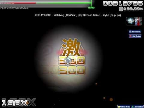 osu! - Ikimono Gakari - Joyful [HardRock,DoubleTime,Flashlight]