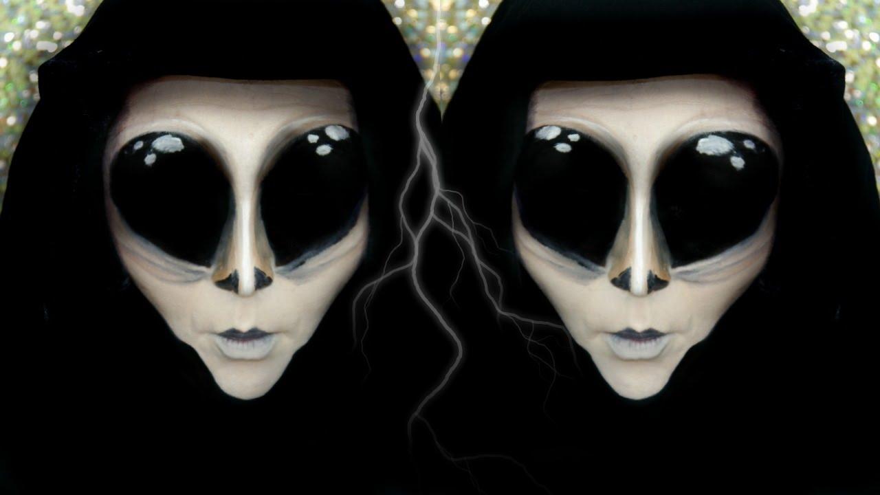 3cb3c994355 Creepy Alien | Halloween Makeup Tutorial - YouTube