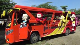 SENANGNYA BADUT TELETUBBIES LALA PO & UPIN IPIN NAIK ODONG-ODONG TAYO THE LITTLE BUS