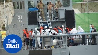 100 of migrants rescued by Maltese Army trying to cross into Europe