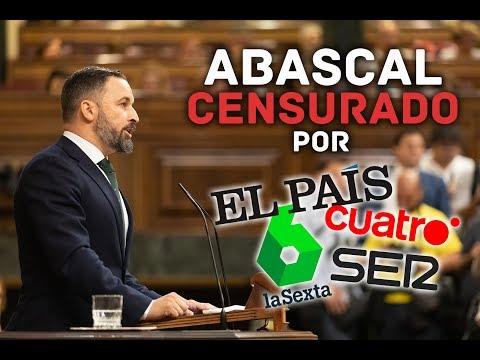 El discurso de Santiago Abascal censurado por las televisiones