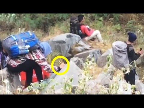 Viral, Pendaki Wanita Mencoret Batu Pakai Spidol di Gunung Rinjani