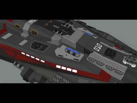 Goggle Sketchup Spaceship Modeling - TFS Kyros Class Destroyer