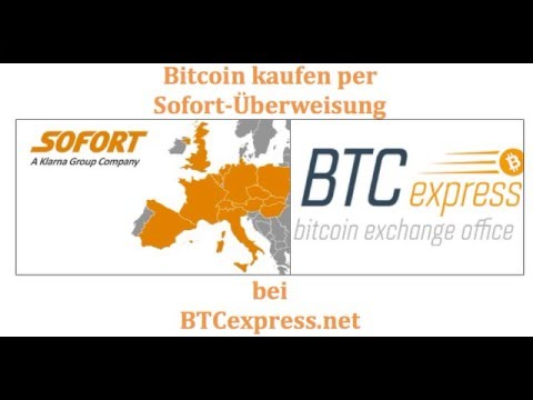 Bitcoin Sofortüberweisung