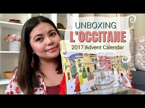 L'OCCITANE Beauty Advent Calendar 2017 Unboxing | Minks and Macarons 🌸