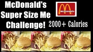 McDonalds Family Meal Challenge - 2000 Calories! | FreakEating vs The World 37