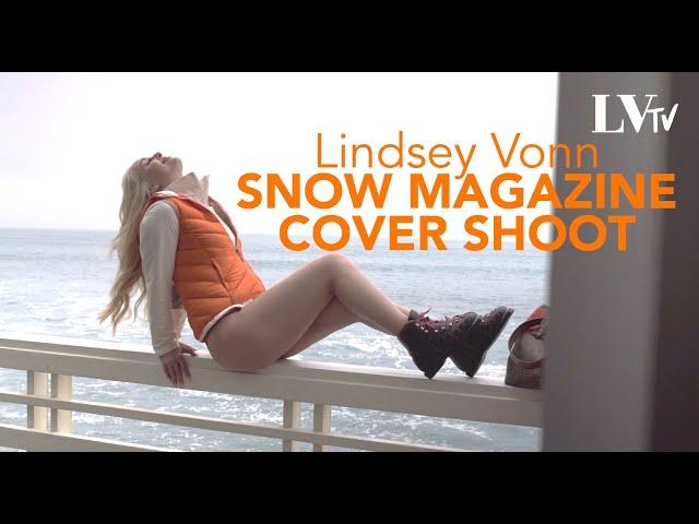 Lindsey Vonn Behind The Scenes Snow Magazine Shoot