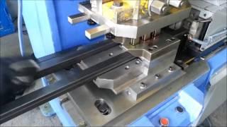 30x30 profil delme makinası profile punching machine