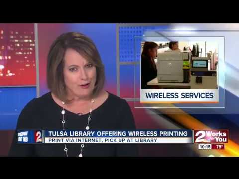 KJRH Ch. 2 News at 10 p.m. Features TCCL's Wireless Printing