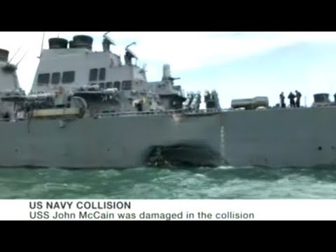 10 U.S. Sailors Missing After Navy Ship Collides With Oil Tanker Near Singapore