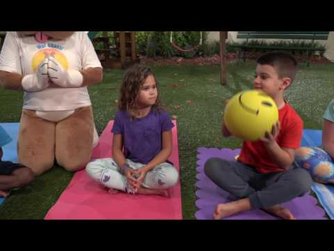 Wuf Shanti TV Show- Happy Ball Game (Yoga and Meditation for Kids)
