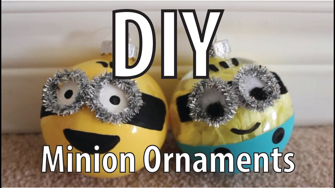 diy minion christmas ornaments youtube