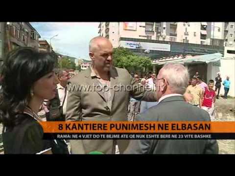 8 kantiere punimesh në Elbasan - Top Channel Albania - News - Lajme