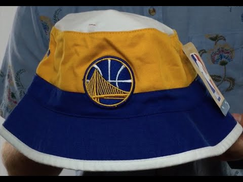 eef01ac2f83 Warriors  COLOR-BLOCK BUCKET  White-Gold-Royal Hat by Mitchell and Ness