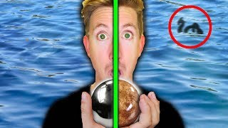 MONSTER IN POND FOUND with MIRROR POLISHED JAPANESE FOIL BALL vs SHINY DIRT BALL (EGGS) thumbnail