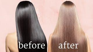 Remove Hair Colour DIY Tutorial dark to light