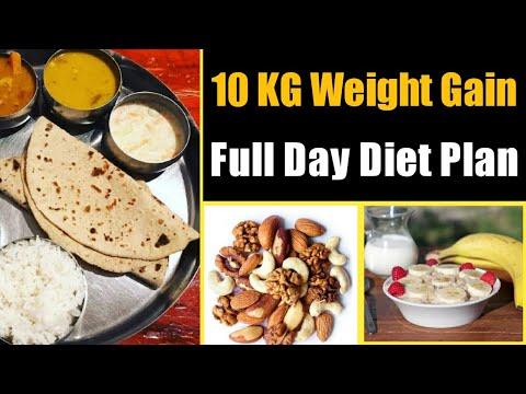 WEIGHT GAIN Full Day DIET PLAN For Men & Women In Hindi | How To Gain Weight Fast