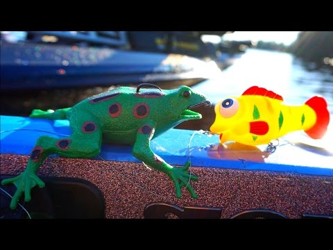 Thumbnail: RUBBER TOY FISHING CHALLENGE?!?!